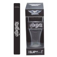Aerosmith Black and White Script Heavy Duty Slap Band Pint Glass