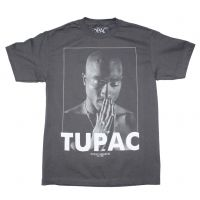 Tupac Praying Charcoal T-Shirt