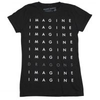 Imagine Dragons Stacked Logo Juniors T-Shirt
