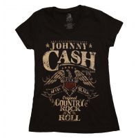 Johnny Cash Country Rock Juniors T-Shirt