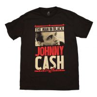 Johnny Cash Man in Black T-Shirt