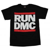Run DMC Logo Black T-Shirt