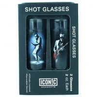 Joe Bonamassa Red Guitar Shot Glasses (2 Pack)