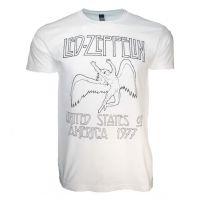 Led Zeppelin USA 77 White T-Shirt