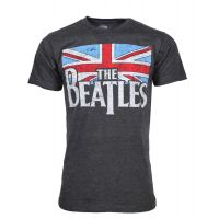 Beatles Distressed British Flag T-Shirt