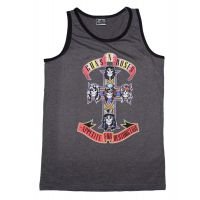 Guns n Roses Appetite for Destruction Men's Heather Contrast Muscle Tank