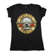 Guns n Roses Distressed Bullet Juniors T-Shirt