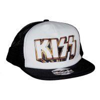 KISS Gold Logo Snapback Trucker Hat