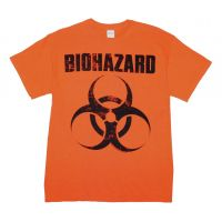Biohazard Distressed Logo T-Shirt