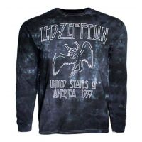 Led Zeppelin USA Tour 77 Tie Dye Long Sleeve Shirt