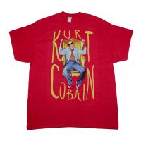 Kurt Cobain Sitting Chair Photo T-Shirt