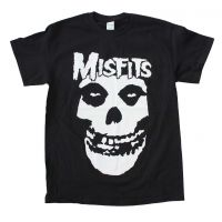 Misfits White Skull Big Print T-Shirt