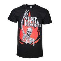 Stiff Little Fingers Skeleton Flame T-Shirt