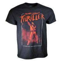 Michael Jackson Thriller Arm Up Black  T-Shirt