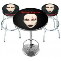 Marilyn Manson Red Lips Bar Set