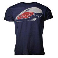 Led Zeppelin Blimp Logo Navy T-Shirt