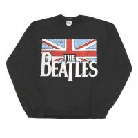 Beatles Distressed Flag Crew Neck Sweatshirt
