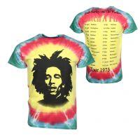 Bob Marley Catch A Fire Tie Dye T-Shirt