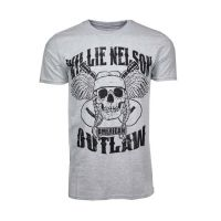 Willie Nelson Outlaw Skull T-Shirt