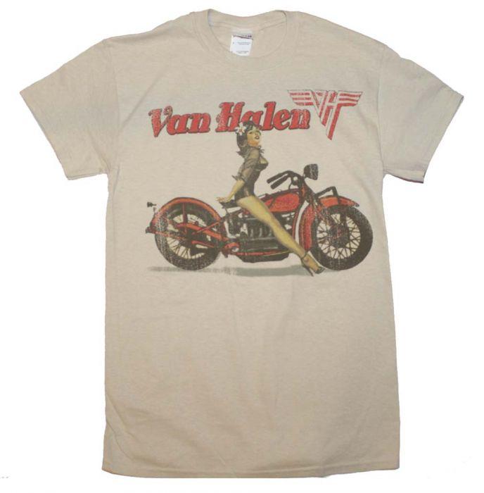 be09ff51bce Dropship Van Halen Biker Pinup T-Shirt at RocklineDropship.com