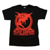 Black Sabbath Europe 75 T-Shirt