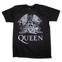 Queen White Logo on Black T-Shirt