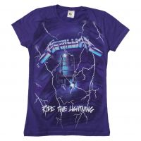 Metallica Ride the Lightning Purple Juniors T-Shirt