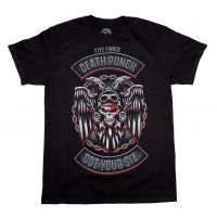 Five Finger Death Punch BTD Biker Badge T-Shirt