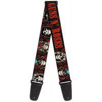 Guns n Roses Skull Roses Guitar Strap