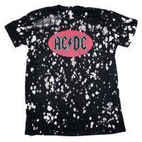 AC/DC Bleach Spot Logo Soft Hand T-Shirt