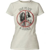 John Lennon Give Peace a Chance Juniors Tee