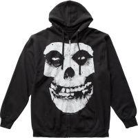Misfits Fiend Skull Zip Hoodie Sweatshirt