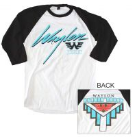 Waylon Jennings Hanging Tough Raglan Sleeve T-Shirt