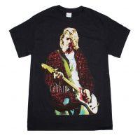 Kurt Cobain Red Jacket Guitar Photo T-Shirt