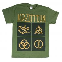 Led Zeppelin Black Box Symbols T-Shirt