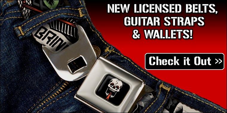 Dropship Licensed Belts, Guitar Straps & Wallets at RocklineDropship.com